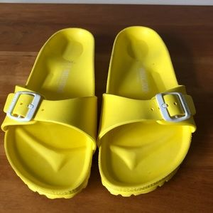 Yellow Birkenstock's